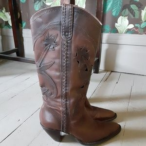 SANTA FE Boot Company Leather Western Boots